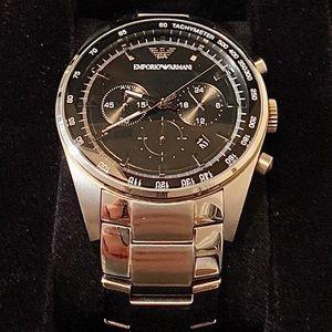 Emporio Armani M Three-Hand Stainless Steel Watch
